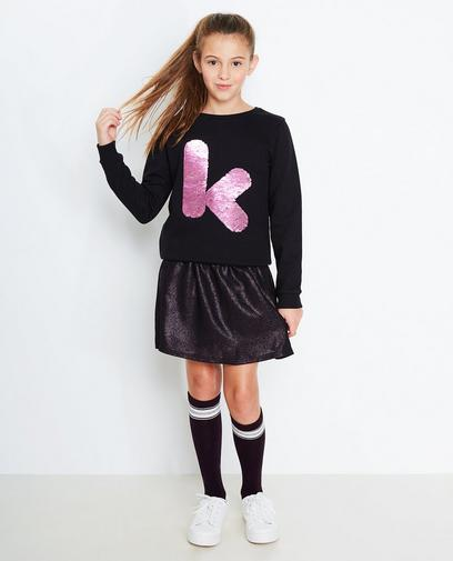 Zwarte swipe sweater